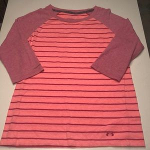 Under Armour 3/4 sleeve stripped t-shirt